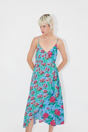 Zara Vestido assimétrico estampado
