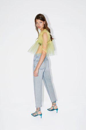 Zara Blusa de tule com volume