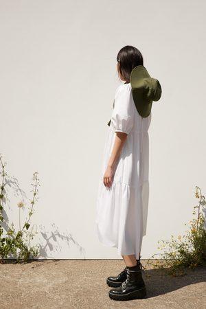 Zara Vestido assimétrico de popelina