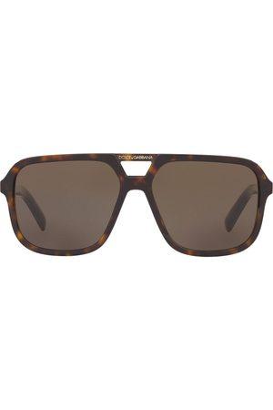 Dolce & Gabbana Eyewear Tortoiseshell aviator sunglasses