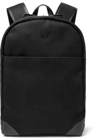 Bennett Winch Homem Mochilas - Leather-Trimmed Cotton-Canvas Backpack