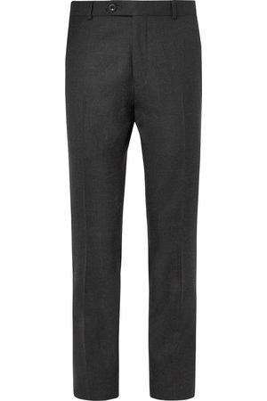 Mr P. Homem Calças Formal - Slim-fit Grey Worsted Wool Trousers