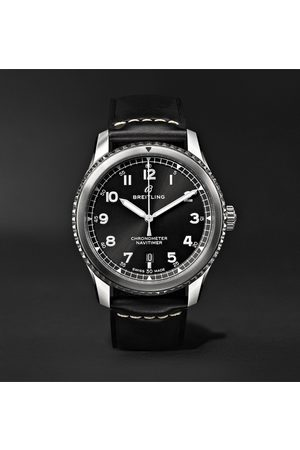 Breitling Homem Relógios - Navitimer 8 Automatic 41mm Steel And Leather Watch