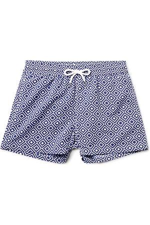 Frescobol Carioca Angra Slim-fit Short-length Printed Swim Shorts