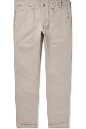 Norse projects Homem Calças - Aros Heavy Tapered Cotton-twill Chinos