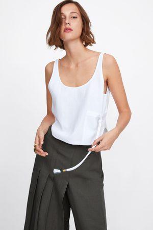Zara Top com bolso e cordão