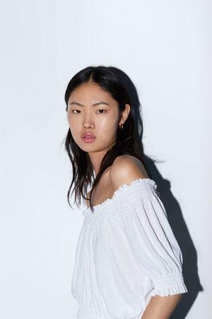 Zara T-shirt com decote elástico