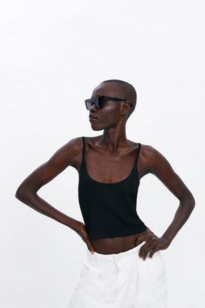 Zara Top de alças com estrutura