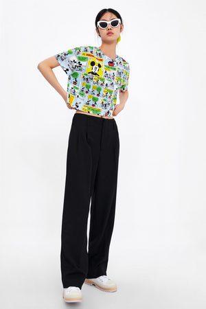 Zara Senhora T-shirts & Manga Curta - T-shirt cropped mickey © disney
