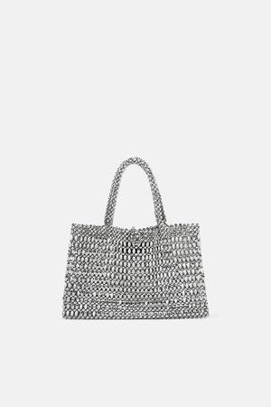 Zara Tote bag pequena metalizada