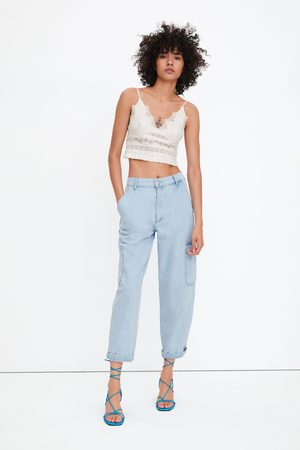 Zara Top cropped tipo lingerie