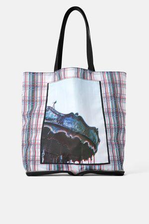 Zara Senhora Shoppers - Mala tote bag dobrável com imagem