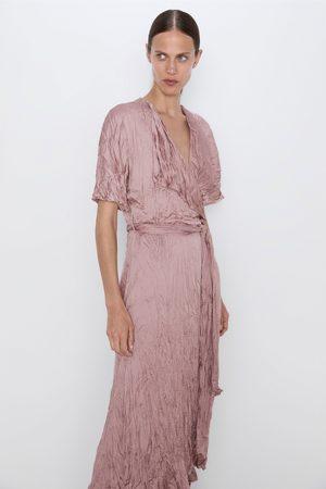 Zara Vestido efeito enrugado