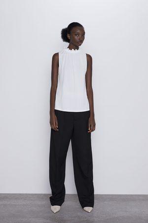 Zara T-shirt franzida