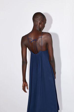 Zara Vestido estilo lingerie com franzidos