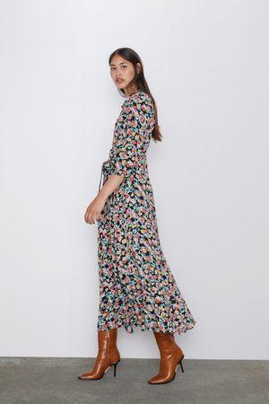 Zara Vestido comprido estampado floral