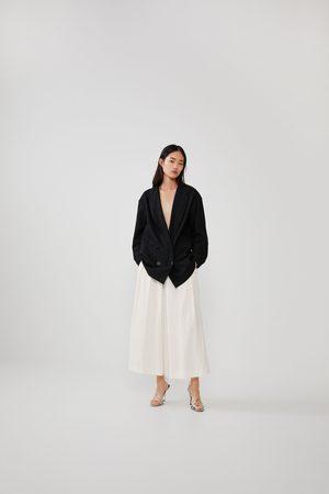 Zara Calças culotte rústicas