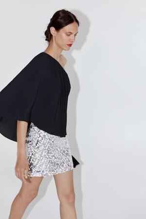 Zara Mini-saia c/ lantejoulas