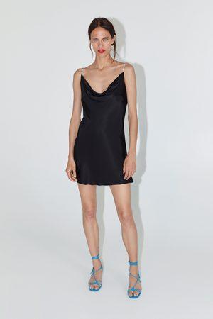 Zara Vestido curto estilo lingerie