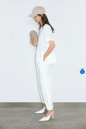 Zara Blusa parte inferior plissada