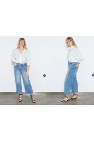 Zara Jeans zw premium high waist culotte sunrise blue