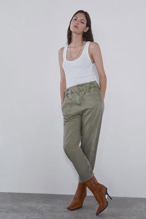 Zara Jeans z1975 baggy com bolsos