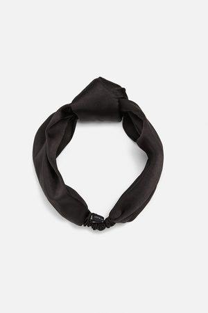 Zara Bandolete turbante acetinado