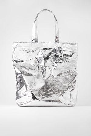 Zara Mala maxi tote bag metalizada