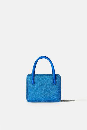 Zara Mini mala a tiracolo glitter blue collection