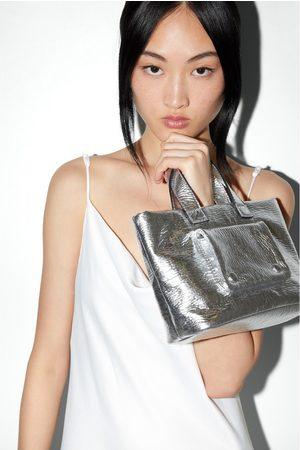 Zara Mala tote bag metalizada
