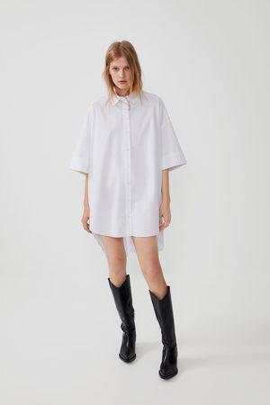 Zara Camisa de popelina oversize