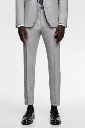 Zara Calças de conjunto com estrutura stretch