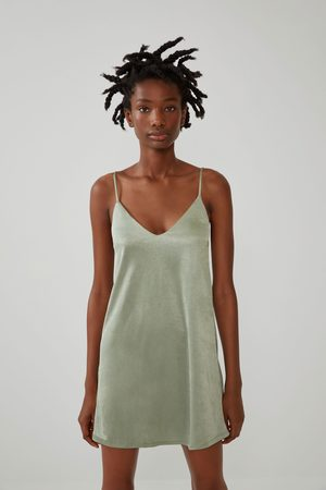 Zara Vestido tipo lingerie