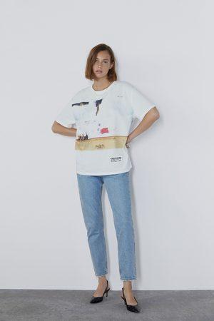 Zara Senhora T-shirts & Manga Curta - T-shirt estampada ©radiohead