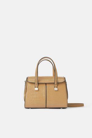 Zara Mala mini tote bag com estampado animal