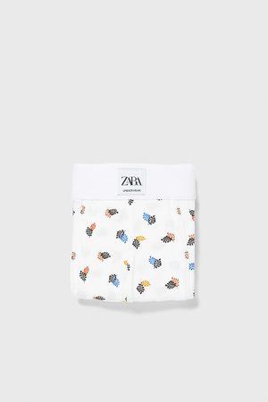 Zara Homem Boxers - Boxers com estampado de folhas