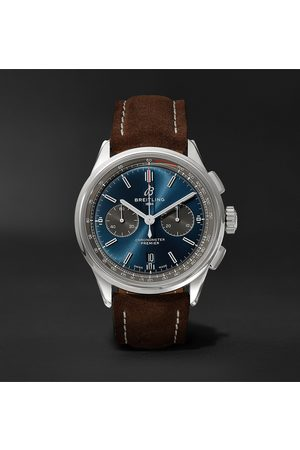 Breitling Homem Relógios - Premier B01 Chronograph 42mm Stainless Steel And Nubuck Watch