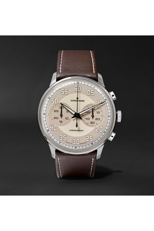 Junghans Homem Relógios - Meister Driver Chronoscope 40mm Stainless Steel And Leather Watch