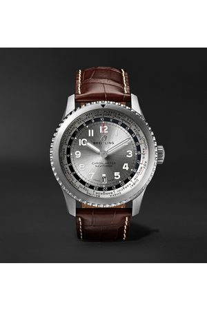 Breitling Homem Relógios - Navitimer 8 B35 Automatic Unitime Chronometer 43mm Stainless Steel And Alligator Watch