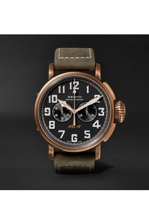Zenith Pilot Type 20 Extra Special Chronograph 45mm Bronze And Nubuck Watch, Ref. No. 29.2430.4069/21.c800