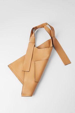 Zara Mala tote bag plana com bolso exterior