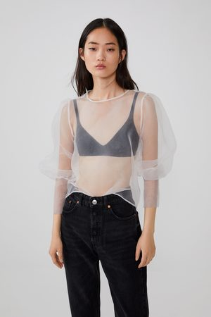 Zara Blusa de organza