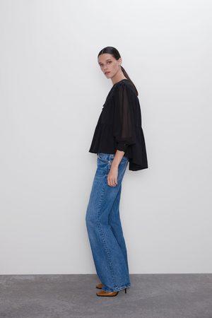 Zara T-shirt combinada com cordões