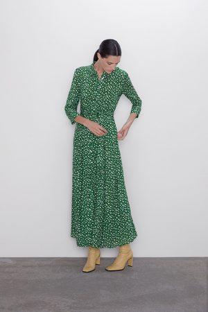 Zara Vestido comprido estampado