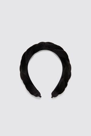 Zara Bandolete de veludo trançada