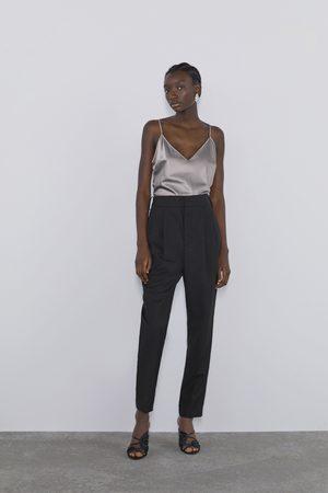 Zara Top estilo lingerie acetinado