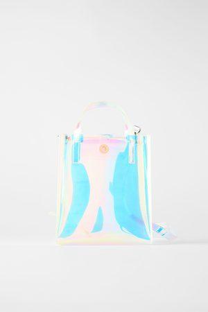Zara Mala mini tote bag iridescente