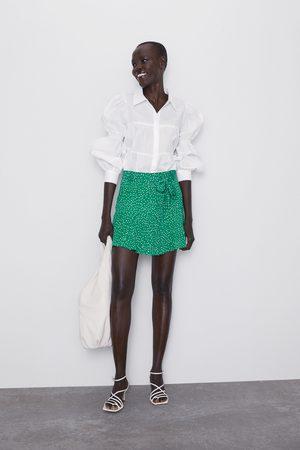 Zara Saia calções bermuda estampada
