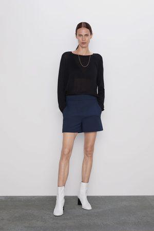 Zara Calções de cintura alta