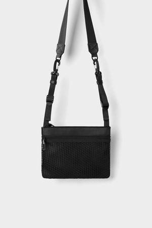 Zara Mini mala a tiracolo funcional preta